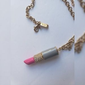 Kate Spade Lipstick Pendant Long Necklace